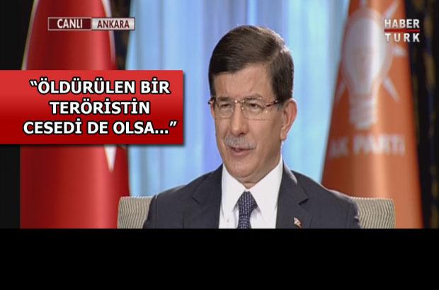 Davutoğlu Şırnak'ta tartışılan o fotoğrafa ilişkin Habertürk'e konuştu