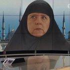 ARD, Merkel'e kara çarşaf giydirdi