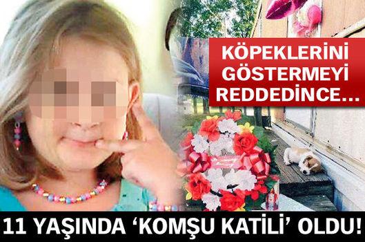 11 yaşında 'komşu katili' oldu!