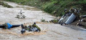 Zonguldak Ereğli yağmura teslim oldu