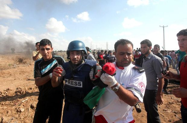 Gazze'de AA kameramanı  yaralandı