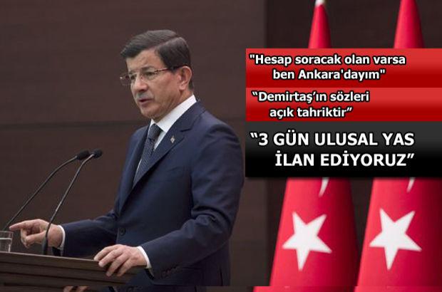 Başbakan Davutoğlu'ndan Kılıçdaroğlu ve Bahçeli'ye davet