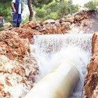 Bodrum'da içme suyu isale hattı yine patladı