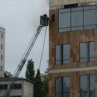 Dolapdere'de hastane inşaatında yangın