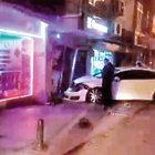Ehliyetsiz sürücü ATM'yi yerinden söktü