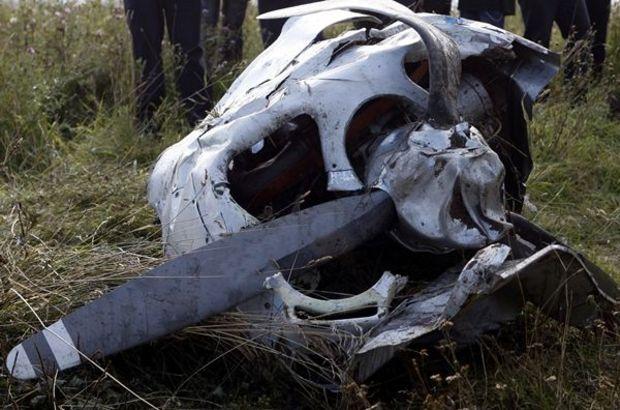 Kırım'da özel uçak düştü