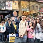 Beyoğlu'nda minikler sinema keyfi yaptı