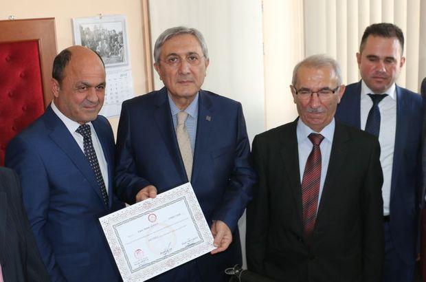 MHP Genel Başkan Yardımcısı mazbatasını aldı