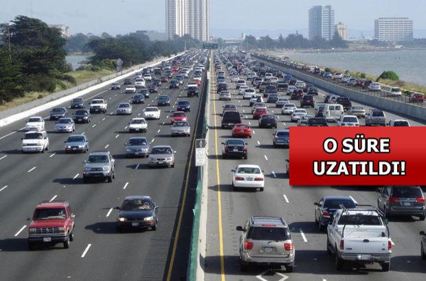 Yurtdışından getirilen araçlara verilen süre, Yurtdışından getirilen taşıtlara verilen süre, Türkiye Gümrük Bölgesi