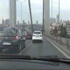 Lodos Cumhurbaşkanı Erdoğan'ın konvoyunu köprü üzerinde yavaşlattı