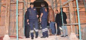 Konya'da tarihi Alaaddin Camii'nde yangın çıktı