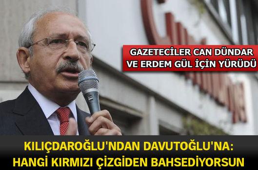 Kılıçdaroğlu'ndan Davutoğlu'na: Hangi kırmızı çizgiden bahsediyorsun