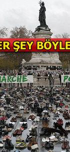 Paris'teki iklim eylemine gazlı müdahale: 317 gözaltı