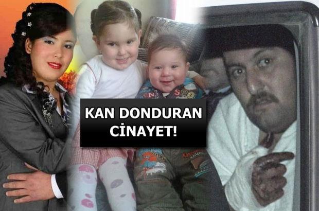 Cinnet getiren baba karısını ve 2 çocuğunu öldürdü!