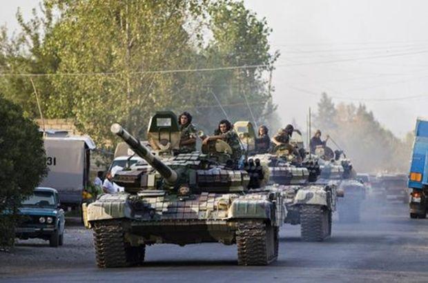 Azerbaycan 20 yıldır ilk kez Karabağ cephe hattında tanklara başvurdu