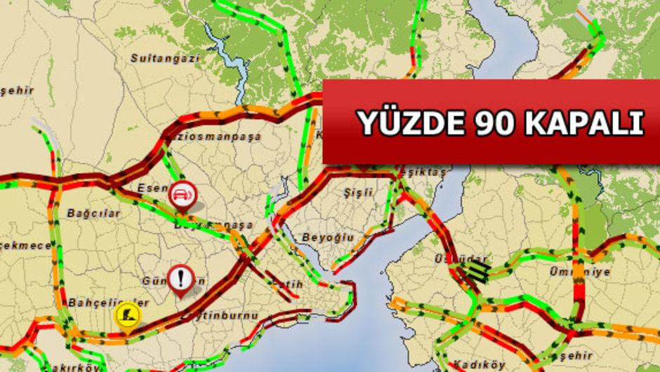 Yola çıkacaklar dikkat! İstanbul kırmızıya büründü!