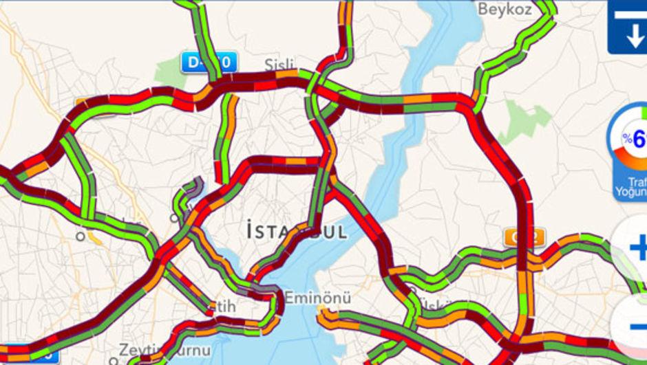 İstanbul trafiği kızardı