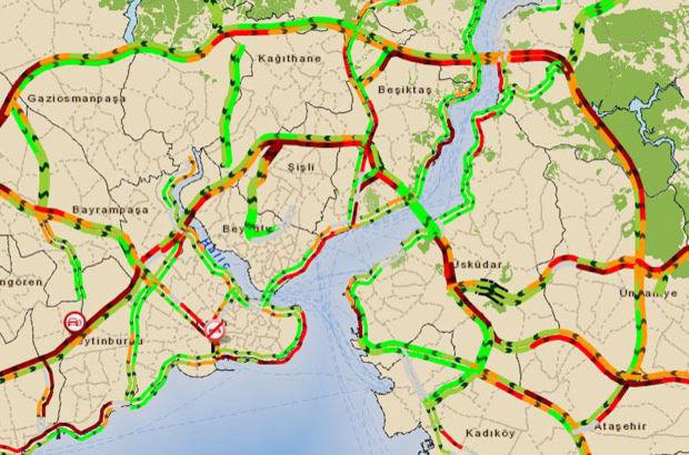 İstanbul'da haftasonu trafik çilesi başladı