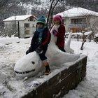 Kardan hayvan figürleri yaptı