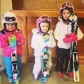 Minik kayakçılar...
