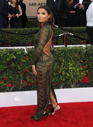 Eva Longoria Screen Actors Guild Ödül Töreni'ne damga vurdu