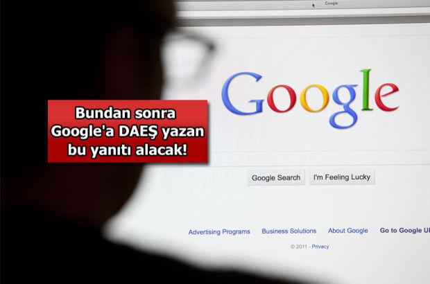 Google'a DAEŞ yazan öğüt alacak