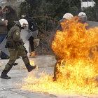 Atina'da sokaklar eylemcilere teslim