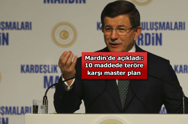 Ahmet Davutoğlu 10 başlıkta Master Planı açıkladı