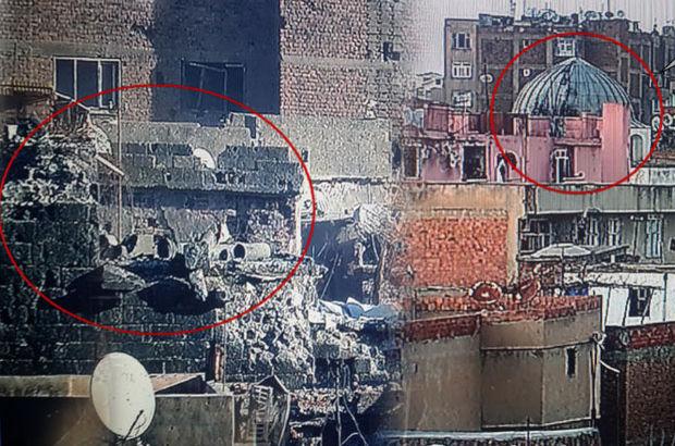 Terör örgütü Sur'daki tarihi eserleri yok etti