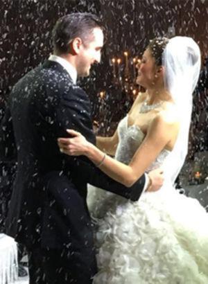 St. Moritz'de düğün...