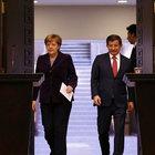 Davutoğlu ve Merkel açıklama yapıyor