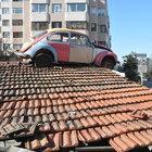 Çatıya dekor amacıyla koyduğu vosvos ilgi gördü