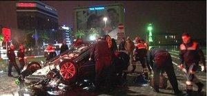 Kayganlaşan yolda kontrolü kaybeden otomobil kaza yaptı:1 ölü