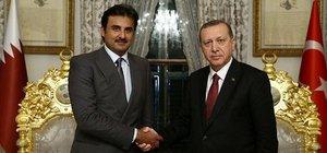 Katar Emiri, Erdoğan ve Davutoğlu ile görüştü
