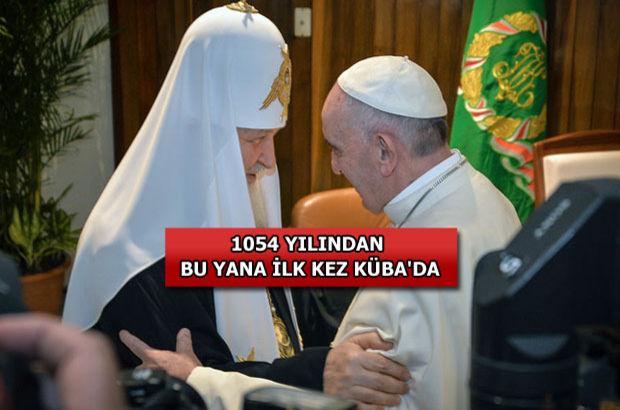 Papa ve Patrik'ten tarihi buluşma!