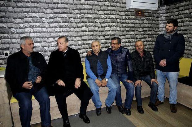 Erdoğan'dan esnafa sürpriz ziyaret