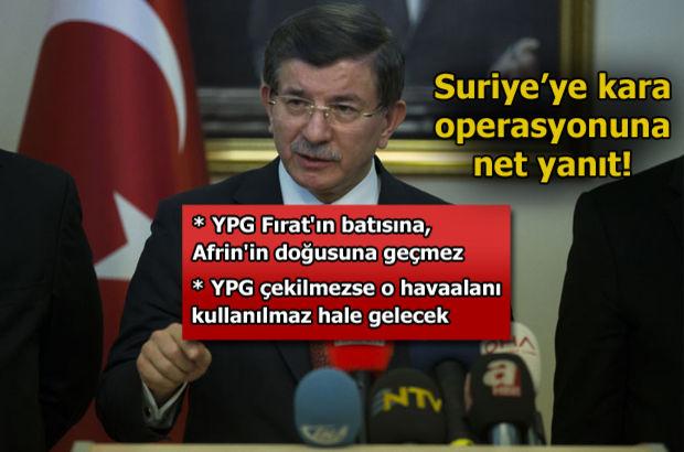 Ahmet Davutoğlu: Azez'in düşmesine izin vermeyiz