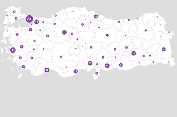 Umut Vakfı Kadın Cinayet Vakalarının haritası