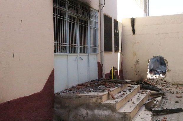 PKK'lılar Nusaybin'de okul yaktı