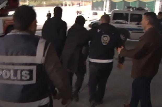 Cumhurbaşkanlığı Külliyesi önünde bir Suriyeli polisi alarma geçirdi, gözaltına alındı