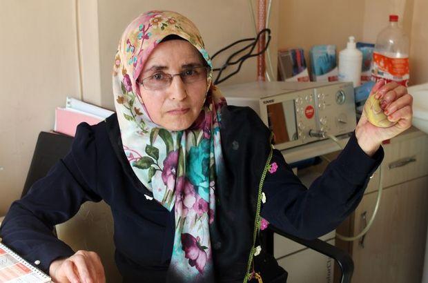 Konya'da sinirleri hasar gören Ayşe Bilge tedaviden sonra elini kullanmaya başladı!