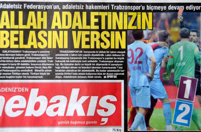 Trabzon yerel basınından Galatasaray maçı tepkileri