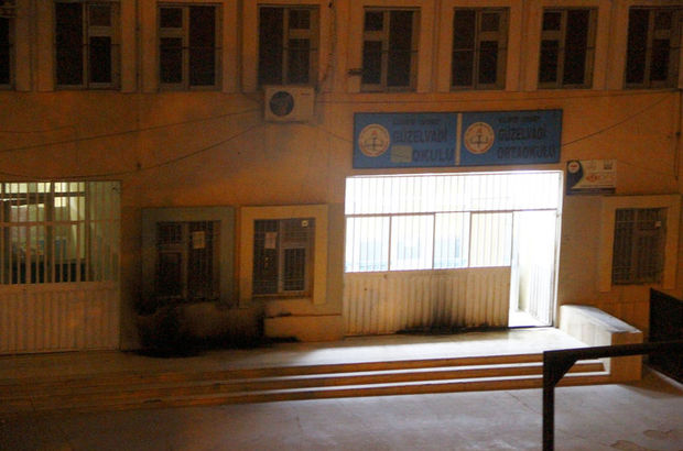 Gaziantep'te okula molotofkokteyli atıldı