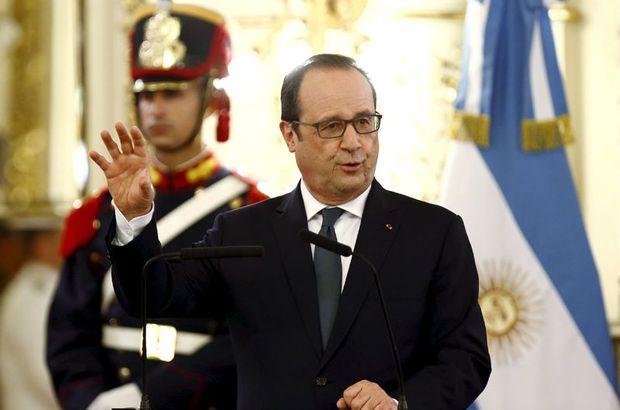Fransa Cumhurbaşkanı Hollande, Arjantin'e Suriyeli mültecilere birlikte yardım etmeyi teklif etti