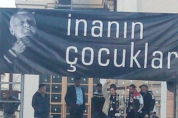 Beşiktaş'a Süleyman Seba pankartı!