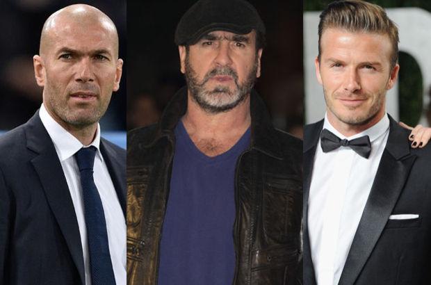 Futbolun sönmeyen efsaneleri David Beckham, Eric Cantona, Romario