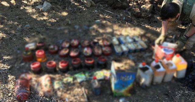 PKK'ya ait gıda depoları ele geçirildi