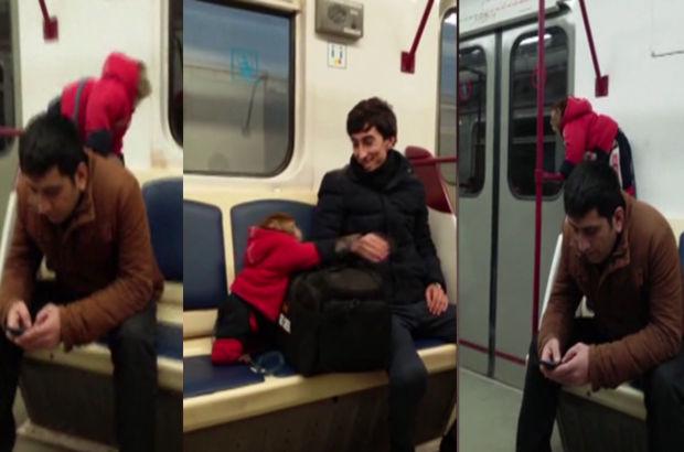 Azerbaycan'ın başkenti Bakü'de bir yolcu metroya maymunla bindi / izle