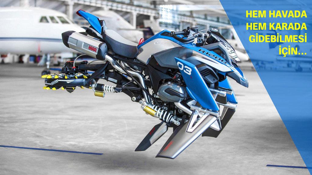Uçan motosiklet geliyor!