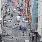 Patlamanın ardından İstiklal Caddesi tepeden görüntülendi